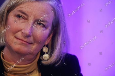 Stock Image of Dr. Sarah Wollaston, former MP for Totnes gave a speech at Parliament and Brexit Conference titled 'UK in a Changing Europe'.