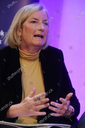 Stock Picture of Dr. Sarah Wollaston, former MP for Totnes gave a speech at Parliament and Brexit Conference titled 'UK in a Changing Europe'.