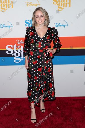 Editorial picture of 'Stargirl' film premiere, Arrivals, Los Angeles, USA - 10 Mar 2020