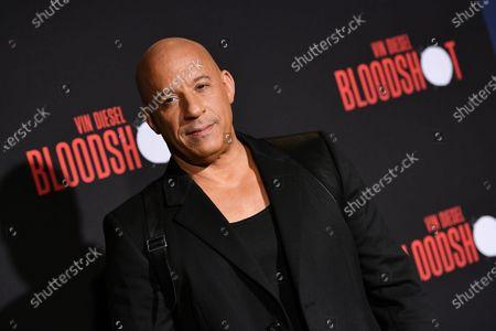 Editorial image of 'Bloodshot' film premiere, Arrivals, Los Angeles, USA - 10 Mar 2020