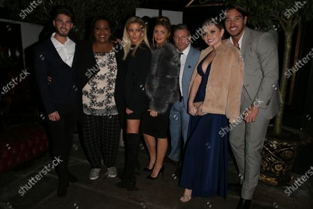 Stock Photo of Joshua Ricthie, Alison Hammond, Olivia Bentley, Dean Gaffney, Amy Hart and James Lock