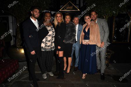 Joshua Ricthie, Alison Hammond, Olivia Bentley, Dean Gaffney, Amy Hart and James Lock