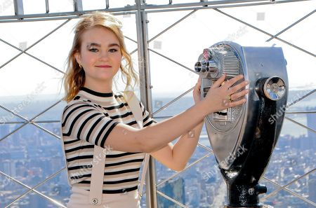 Editorial photo of Millicent Simmonds visit to the Empire State Building, New York, USA - 09 Mar 2020