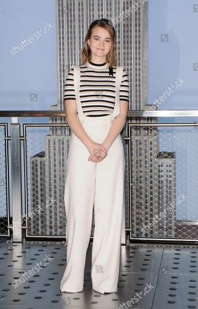 Editorial image of Millicent Simmonds visit to the Empire State Building, New York, USA - 09 Mar 2020