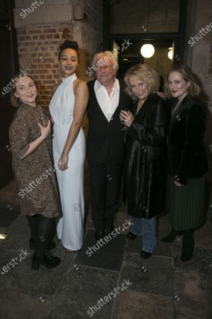 Rose Wardlaw (Edith), Emma Naomi (Elvira), Richard Eyre (Director), Jennifer Saunders (Madame Arcati) and Lucy Robinson (Mrs Bradman)