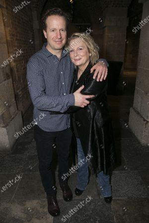 Geoffrey Streatfeild (Charles) and Jennifer Saunders (Madame Arcati)