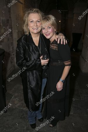 Jennifer Saunders (Madame Arcati) and Lisa Dillon (Ruth Condomine)