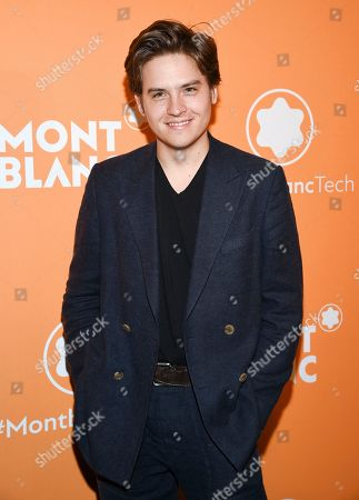 Stock Image of Dylan Sprouse attends the Montblanc MB 01 Smart Headphones and Summit 2+ launch party World of McIntosh Townhouse, in New York