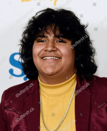 "Juliocesar Chavez, a cast member in the Disney+ film ""Stargirl,"" poses at the premiere of the film at the El Capitan Theatre, in Los Angeles"