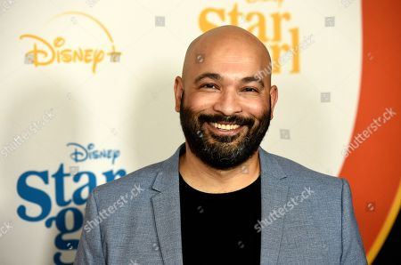 """Stock Image of Maximiliano Hernandez, a cast member in the Disney+ film """"Stargirl,"""" poses at the premiere of the film at the El Capitan Theatre, in Los Angeles"""