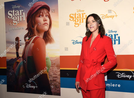 "Julia Hart, director/co-screenwriter of the Disney+ film ""Stargirl,"" poses at the premiere of the film at the El Capitan Theatre, in Los Angeles"