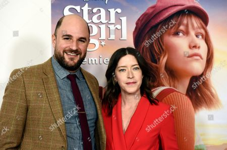 "Julia Hart, Jordan Horowitz. Julia Hart, right, director/co-screenwriter of the Disney+ film ""Stargirl,"" poses with co-screenwriter/executive producer Jordan Horowitz at the premiere of the film at the El Capitan Theatre, in Los Angeles"