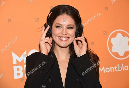 Emily DiDonato attends the Montblanc MB 01 Smart Headphones and Summit 2+ launch party World of McIntosh Townhouse, in New York