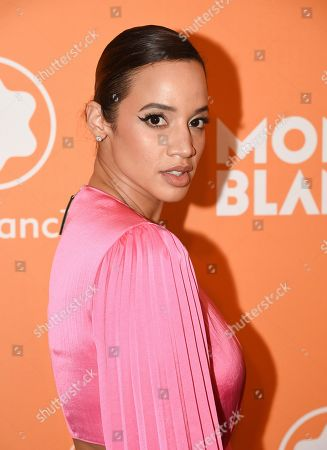 Dascha Polanco attends the Montblanc MB 01 Smart Headphones and Summit 2+ launch party World of McIntosh Townhouse, in New York