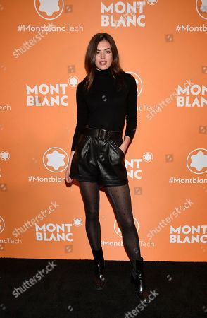 Sofie Rovenstine attends the Montblanc MB 01 Smart Headphones and Summit 2+ launch party World of McIntosh Townhouse, in New York