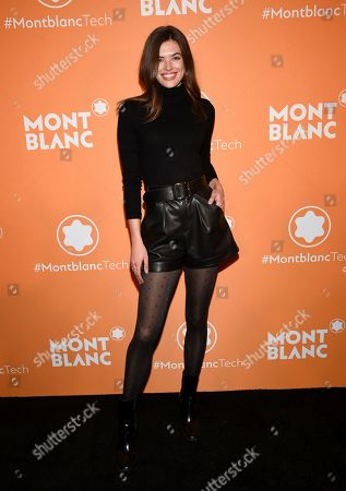 Stock Image of Sofie Rovenstine attends the Montblanc MB 01 Smart Headphones and Summit 2+ launch party World of McIntosh Townhouse, in New York