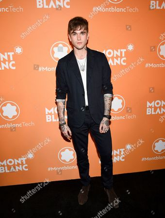 Gabriel-Kane Day-Lewis attends the Montblanc MB 01 Smart Headphones and Summit 2+ launch party World of McIntosh Townhouse, in New York