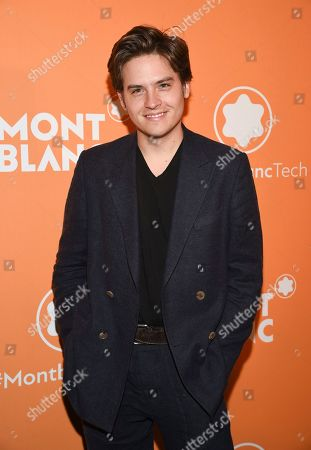 Stock Photo of Dylan Sprouse attends the Montblanc MB 01 Smart Headphones and Summit 2+ launch party World of McIntosh Townhouse, in New York