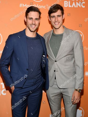 Jordan Stenmark, Zac Stenmark. Jordan Stenmark, left, and Zac Stenmark attend the Montblanc MB 01 Smart Headphones and Summit 2+ launch party World of McIntosh Townhouse, in New York