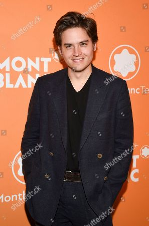Stock Picture of Dylan Sprouse attends the Montblanc MB 01 Smart Headphones and Summit 2+ launch party World of McIntosh Townhouse, in New York