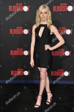 "Katherine McNamara attends the LA premiere of ""Bloodshot"" at the Regency Westwood Theatre, in Los Angeles"