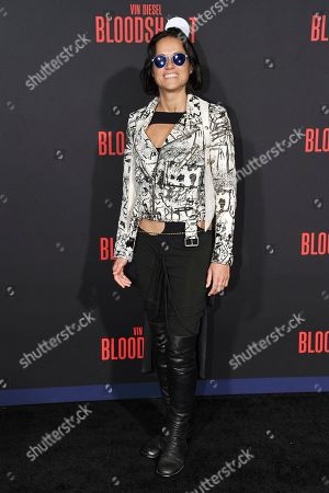 """Michelle Rodriguez CAattends the LA premiere of """"Bloodshot"""" at the Regency Westwood Theatre, in Los Angeles"""