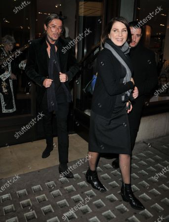 Stock Image of Darren Strowger and Sadie Frost