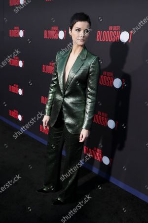 Jaimie Alexander at the World Premiere of Columbia Pictures' BLOODSHOT at The Village Regency.