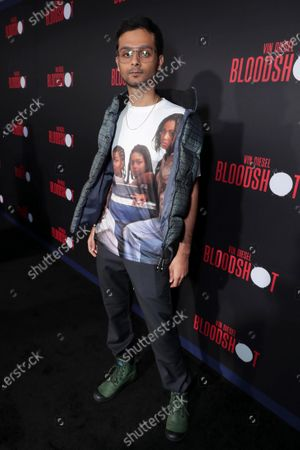 Siddharth Dhananjay at the World Premiere of Columbia Pictures' BLOODSHOT at The Village Regency.