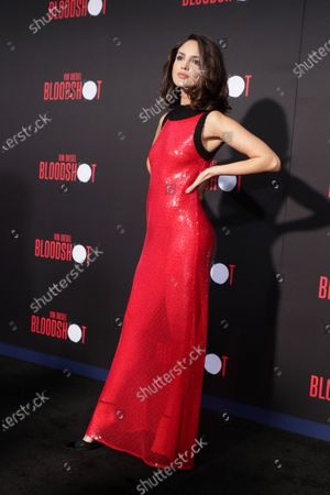 Eiza Gonzalez at the World Premiere of Columbia Pictures' BLOODSHOT at The Village Regency.