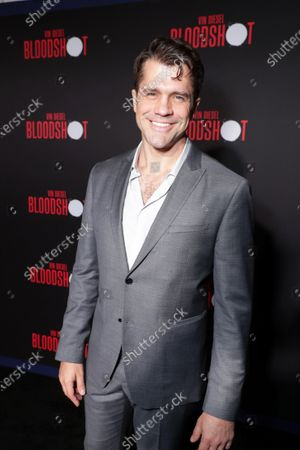 Jeff Wadlow, Writer, at the World Premiere of Columbia Pictures' BLOODSHOT at The Village Regency.