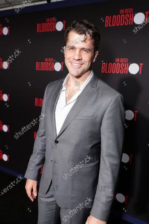 Stock Photo of Jeff Wadlow, Writer, at the World Premiere of Columbia Pictures' BLOODSHOT at The Village Regency.