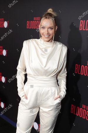 Camille Kostek at the World Premiere of Columbia Pictures' BLOODSHOT at The Village Regency.