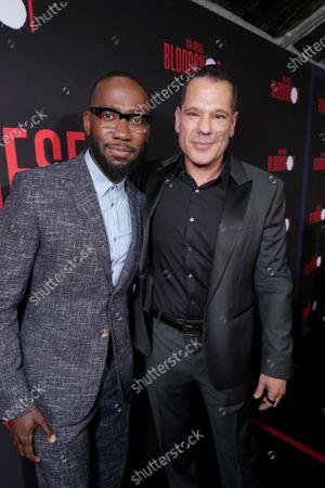 Stock Picture of Lamorne Morris and Dan Mintz at the World Premiere of Columbia Pictures' BLOODSHOT at The Village Regency.
