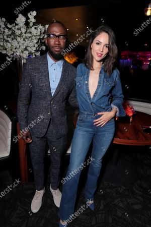 Lamorne Morris and Eiza Gonzalez at the After-Party of Columbia Pictures' BLOODSHOT at STK.