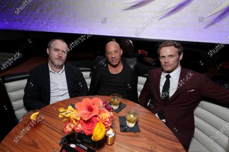 Dave Wilson, Director, Vin Diesel and Sam Heughan at the After-Party of Columbia Pictures' BLOODSHOT at STK.