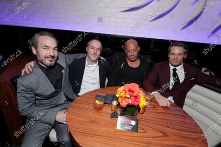 Steve Jablonsky, Composer, Dave Wilson, Director, Vin Diesel and Sam Heughan at the After-Party of Columbia Pictures' BLOODSHOT at STK.