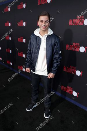 Stock Photo of Jake T Austin at the World Premiere of Columbia Pictures' BLOODSHOT at The Village Regency.