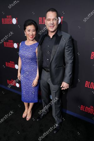 Stock Photo of Bing Wu and Dan Mintz at the World Premiere of Columbia Pictures' BLOODSHOT at The Village Regency.