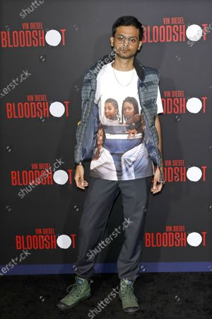 Stock Photo of Siddharth Dhananjay arrives for the movie premiere of Sony's 'Bloodshot' at the Regency Village Theater in Westwood, Los Angeles, California, USA, 10 March 2020. The movie opens in theaters in the USA on 13 March 2020.
