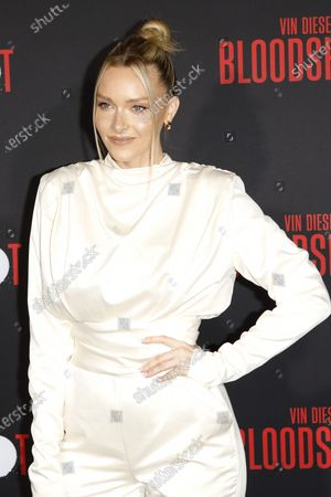 Camille Kostek arrives for the movie premiere of Sony's 'Bloodshot' at the Regency Village Theater in Westwood, Los Angeles, California, USA, 10 March 2020. The movie opens in theaters in the USA on 13 March 2020.