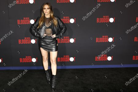 Stock Image of Cassie Scerbo arrives for the movie premiere of Sony's 'Bloodshot' at the Regency Village Theater in Westwood, Los Angeles, California, USA, 10 March 2020. The movie opens in theaters in the USA on 13 March 2020.