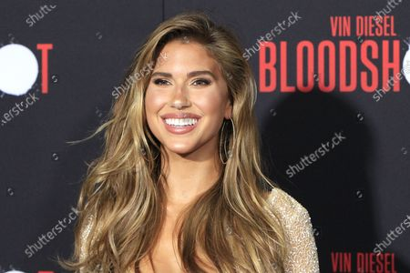 Kara Del Toro arrives for the movie premiere of Sony's 'Bloodshot' at the Regency Village Theater in Westwood, Los Angeles, California, USA, 10 March 2020. The movie opens in theaters in the USA on 13 March 2020.