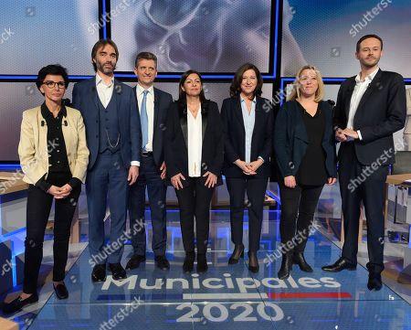 Editorial image of Paris Mayoral candidate TV debate, St Cloud, France - 10 Mar 2020