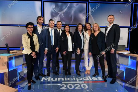 Editorial picture of Paris Mayoral candidate TV debate, St Cloud, France - 10 Mar 2020