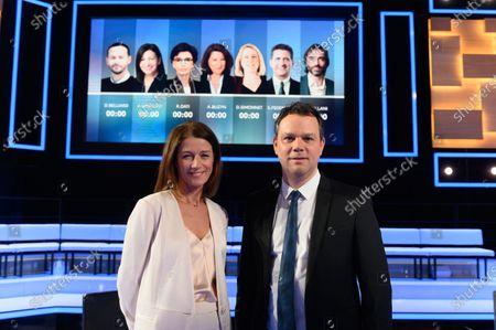 Editorial photo of Paris Mayoral candidate TV debate, St Cloud, France - 10 Mar 2020