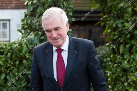 Shadow Chancellor, John McDonnell leaves his west London home this morning. Later today, the new Chancellor of the Exchequer, Rishi Sunak will present his first budget to Parliament.