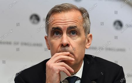 Bank of England Governor Mark Carney holds an emergency press conference in London, Britain, 11 March 2020. The Bank of England has announced it has cut interest rates in response to the Coronavirus outbreak.