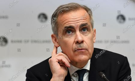 The Bank of England Governor Mark Carney speaks to the press during an emergency press conference in London, Britain, 11 March 2020. The Bank of England has announced it has cut interest rates in response to the Coronavirus outbreak.