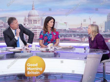 Piers Morgan and Susanna Reid with Deborah Meaden